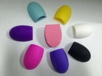 Wholesale Eco Friendly Makeup Brushes Wholesale - FL-0280 Egg Cleaning Glove 8 Colors MakeUp Washing Brush Scrubber Board Cosmetic Brushegg Cosmetic Brush Egg brushegg Cleaning Brushes