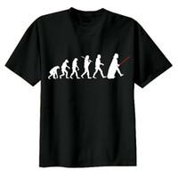 Wholesale Gold Revolution - Wholesale-Fashion Star Wars t shirt Darth Vader t-shirt Men Revolution Camisa Masculina Shirts Round Neck Short Sleeve DJ Yoda T Shirt