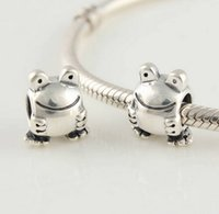 Wholesale Pandora Frog Bead - FROG CHARM DIY Beads Solid 925 Silver Not Plated Fits Pandora Bracelet&Charms
