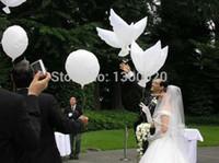 ingrosso dove balloons matrimonio-Vendita 104 * 54cm 50pcs / lot Ballons di cerimonia nuziale balao colomba palloncini pace uccello palloncino piccioni fioretti di stagnola