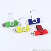 mémoire flash usb 128 achat en gros de-OTG 256 Go USB 2.0 2015 Vente Chaude Un Clé USB Clé USB De Qualité Avec Pivot De Détail Livraison gratuite Mémoire Stylo Pendrives