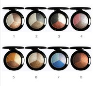 Gros-Baked Eye Shadow Professional 3 Couleurs matte Eyeshadow Makeup dans une boîte Eye Shadow Palette sucre Eye studio
