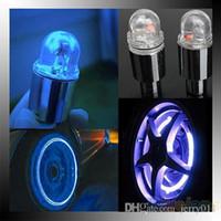 Wholesale Motor Bike Led - New Hot 1 Pair Motor Cycling Bike Tyre Tire Valve LED Car Bicycle Wheel Lights 1OHN