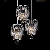 Fashion K9 Crystal Dining Room Pendentif Lampe Simple Kitchen Bar Pendentif Light Hallway Balcon Chandelier Fixtures