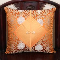Wholesale Luxury Cover Seats - Unique Patchwork Pillow Case Chinese Knot Latest Luxury Vintage High End Real Silk Brocade Cushion Cover for Couch Chairs Car Seat Decoratio