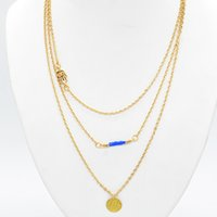 Wholesale Statement Necklaces Multi Layers - 2015 New Hot Sale Fashion Women Multi-Layers Sequins Gold Chain Necklaces Jewelry Statement Charm Necklace Y60*SS1050W#M5