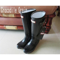 Wholesale Thigh High Brand - Best Selling Women Rain Boots Top Quality Rainboots Wellies Women High Boots Waterproof H Brand Rubber Outdoor Water Shoes