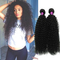 Wholesale 14 curly remy hair weave for sale - Grade A Brazilian Virgin Hair Weave Brazilian Curly Virgin Hair Remy Human Hair Bundles Brazilian Deep Curly Virgin Weave On Sale