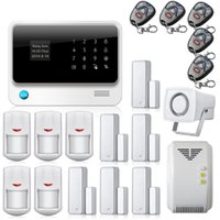 Wholesale touch screen alarm systems resale online - G90B Touch Screen Keypad LCD Display Wifi GSM for IOS Android APP Wireless Home Security Alarm System with Gas Detector