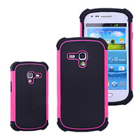 Wholesale Galaxy S Mini Cases - S5Q Hybrid Impact Case Matte Back Covers For Samsung Galaxy S3 S III Mini I8190 AAADZM