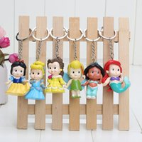 Wholesale Tinkerbell Doll Wholesale - 6pcs set PVC Princess Keychain Tinkerbell doll toy Collection Figure Key Chain keyring