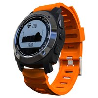 GPS frequenza cardiaca intelligente Bluetooth Sport Watch Wristband Bracciale notifica chiamata Pedometro allarme anti-perso Modalità Sport Air Orange