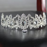 Rhinestones della fascia dei capelli della principessa della parte superiore nuziale della principessa nuziale Wedding Wedding Bridal Tiara Crystal Crown Wedding Pageant Accessori del partito di compleanno