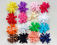 "Wholesale Kids Hair Bobbles - 200pcs 3.5 "" Children's curly Ribbon hair bows clips flowers corker barrettes korker hair bobbles Side Clip hair tie accessories kids PD007"