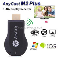 tv android çubukları toptan satış-AnyCast M2 Artı iPush Mini WiFi Ekran TV Dongle Alıcı 1080 P Airmirror DLNA Airplay Miracast HDTV için Kolay Paylaşım HDMI Android TV Sopa