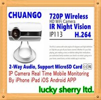 Wholesale Ip Camera Android Audio Hd - CHUANGO IP113 HD 720P H.264 WiFi Camera IR Night Vision Network IP Camera P2P 2-Way Audio for iPhone iOS Android Mobile Monitor