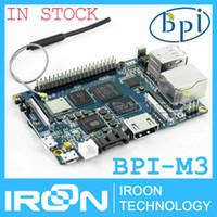 Wholesale Ram Board - Wholesale-BPI-M3 Banana Pi M3 A83T Octa-Core(8-core)2GB RAM BPI M3 with WiFi&Bluetooth4.0 Open-source demo board Single Board Computer