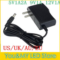 UK 12v plug 5v converter - Edison2011 50Pcs 9V 1A 5V 1A 12V 1A Power Supply EU Plug   US Plug AC 100V-240V Converter Adapter Free shipping