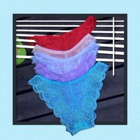 Wholesale Gstring Underwear - Sexy lace thongs gstring bikini brief women underwear lady panties lingerie intimate undergament Knickers cuecas 1pcs lot 162