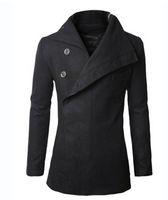 Wholesale Mens Dust Coats - Fall-new Coats & Jackets Trench High quality Men's Dust Coat mens overcoat winter men's trench coat long trench coats for