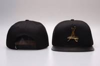 Wholesale Tha Alumni Snap Back - Wholesale Adjustable Bone tha Alumni Snapback Caps Gold A Hip Hop Sport Hats Baseball Snap back Caps Free Shipping