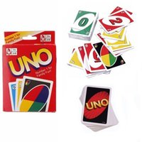 UNO Card Standard Edition UNO Playing Cards 5.6 * 8.8CM Family Fun Playing Cards Caja de regalo English Manual Christmas Gift