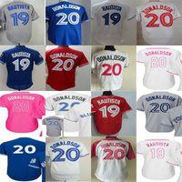 Wholesale Cool Girl Boy - 2017 Josh Donaldson Jose Bautista Jersey Toronto 40th Anniversary #20 #19 father memorial Adult Girls Boys cool flex base Baseball Jerseys