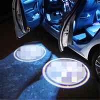 ingrosso lampada volvo-Custodia per AMG Custodia per volvo Car Logo LED Luci interne Welcome Door Ghost Shadow Lamps 12V