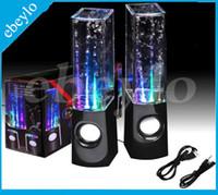 Wholesale Hifi Active Speakers - Dancing Water Speaker Active Portable Mini USB LED Light Speaker For iphone ipad PC MP3 MP4 PSP DHL Free LY