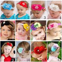 baby girls headband pelo adornos baby flower headbands para los cabritos de la cabeza del beb
