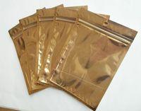 Wholesale Dust Plug Plastic - 10.5x15cm clear gold +Silver Plastic Zipper Retail Aluminium foil Package Bag For Data Cable Car Charger dust plug Packing Bag