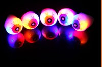Wholesale Big Novelty Ring - IN Stock New Halloween LED Flashing Soft Rubber Eye Ring Kids Toys Novelty Design Party Decoration Supplies Christmas Gift