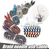 Wholesale Speed G - Micro USB Nylon Braided Noodle Tangle-Free USB 2.0 High Speed Data Sync Charger Cables For One Plus X M8 Motorola G X