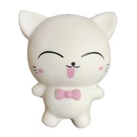 Vente chaude squishies Mignon chat Squishy Cartoon Poupée Lente Rising Jumbo Téléphone Bretelles Charmes Scented Pendentif Pain Gâteau Fun Kid Jouet Cadeau