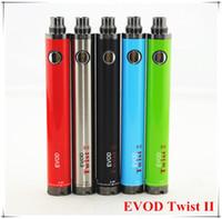 Wholesale Ecig Vv - Evod Twist II Ecig Variable Voltage 510 Thread Battery EVOD TWIST II VV Batteries 1300mah 3.3V-4.8V For MT3 CE4 CE5 G5 Atomizer