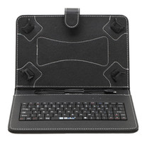 "Wholesale Tablet Pc Free Keyboard - IRULU 9"" inch Micro USB Keyboard Case PU Leather Tablet Stand Folding Folio Cover Cases For 9 Inch Tablet PC DHL Free"