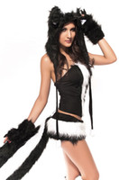 Wholesale Sexy Skunk - fantasias costumes adult fox Bunny Cat Costumes Sexy Skunk Costume LC8518 woman clothes