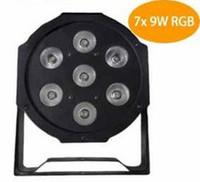 dmx 512 disko dj ışığı toptan satış-Sıcak 7x9 W RGB DMX Sahne Işıkları İş Işıkları Led düz Par Parti Disko DJ için ABD ile Profesyonel Yüksek Güç Işık AB ABD