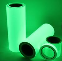 cinta reflectante de vinilo al por mayor-Luminoso superior GLOW IN THE DARK Hoja de cinta de vinilo Tiras reflectantes cinta adhesiva verde 50mm (W) * 10m (L) Envío gratuito
