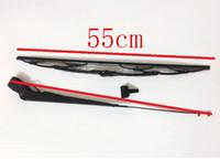 große wischtücher großhandel-Kostenloser Versand! Komatsu Bagger PC200-6 großer Kopf 6D102 Wischerblatt und Armsatz / PC-6 Baggerwischerblattarmsatz / Wischzubehör
