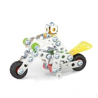 Wholesale metal model airplane kits resale online - 3D Assembly Metal Engineering Vehicles Model Kits Toy Car Crane Motorcycle Truck Airplane Building Puzzles Construction Play Set