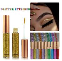 eye-liner brillant achat en gros de-Glitter Eyeliner Liquide Portable Brillant Maquillage Liquide Eye Liner Crayon De longue durée Beauté À Séchage Rapide Beauté Cosmétique Brillant Eyeliner