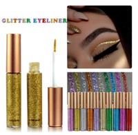 Wholesale shining glitter resale online - Glitter Liquid Eyeliner Portable Shining Makeup Liquid Eye Liner Pencil Long lasting Quick Dry Beauty Cosmetic Shiny Eyeliner