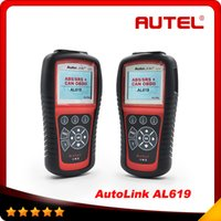 Wholesale Toyota Abs Scan Tool - 2015 Top selling Original Autel AutoLink AL619 OBDII CAN ABS and SRS Scan Tool AL619 AL 619 Free Shipping By DHL