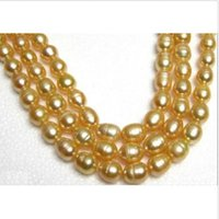 Wholesale Huge Golden South Sea Pearls - CHARMING HUGE 11-13MM NATURAL SOUTH SEA GOLDEN PEARL NECKLACE 14K clasp 48""