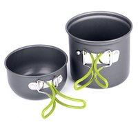 Wholesale Outdoor Camping Cook Sets - Vosicar Camping Picnic Hiking Cook Cookware Cooking Pot Aluminum Bowl Set Outdoor activities Use