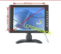Wholesale Tft Monitor Wire - 12.1 Inch Digital VGA AV TFT LCD Stand Touch Screen Monitor USB2.0 4-Wire