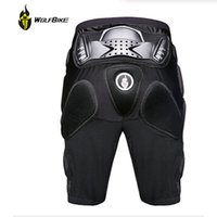 Wholesale WOLFBIKE Hockey Motorcycle Armor Shorts Off road Motorcross Downhill Mountain Bike Skating Extreme Sport Protective Gear Hip Pad BC312
