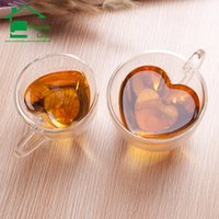 Wholesale-Creative Glass Double Wall Kaffeetasse Teeschale keramische Reise tazas Café Becher Bier Tassen und Becher ungewöhnliche Geburtstagsgeschenke