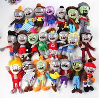 zombi bitki toptan satış-10 stil 30 CM 12 '' Bitkiler Vs Zombies Yumuşak Peluş Oyuncak Bebek Oyunu Şekil Heykeli Bebek Oyuncak Çocuk Hediyeler için